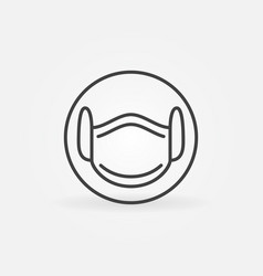 medical face mask linear concept icon vector image