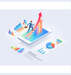 mobile business applications website ui design vector image