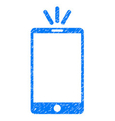 Mobile torch grunge icon vector