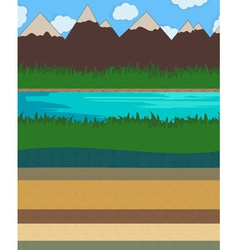 Nature layer ground vector image