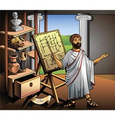 New invention of Archimedes vector image