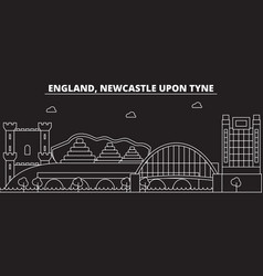 Newcastle upon tyne silhouette skyline great vector