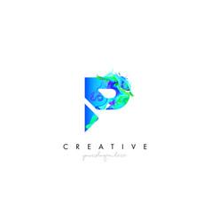 P letter icon design logo with creative artistic vector