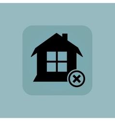 Pale blue remove house icon vector
