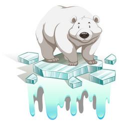 Polar bear on iceberg vector