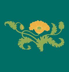 Poppy flower stylized flower symbol vector