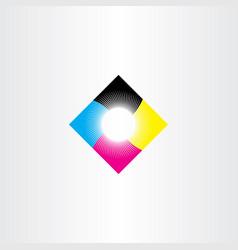 print logo icon cmyk symbol vector image