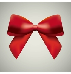Red bowtie icon Ribbon design graphic vector image
