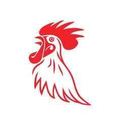 Rooster line logo sports premium design vector