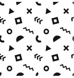 seamless abstract pattern with black geometric vector image