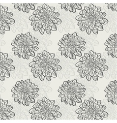seamless pattern with dahlias vector image