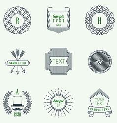 Set of Hipster Vintage Labels or Badges Thin Line vector