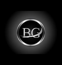 Silver letter bg metal combination alphabet logo vector