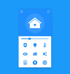 smart house app interface mobile ui vector image