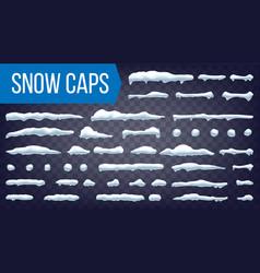 snow drift winter decoration element vector image