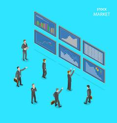 sock market flat isometric concept vector image