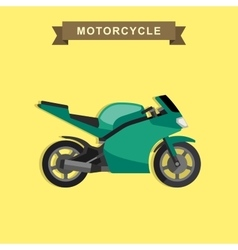 Sport bike flat vector image