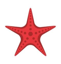 star fish animal beach icon vector image