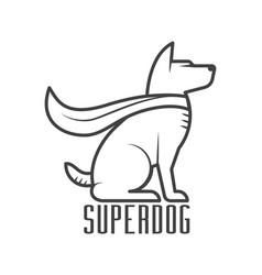 Super dog hero logo vector