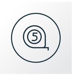 tape measure icon line symbol premium quality vector image