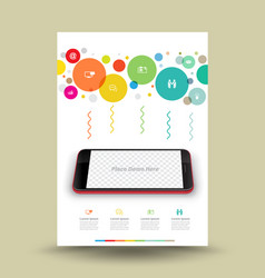 template a4 for technology on mobile phone vector image