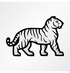Tiger logo Mascot design template Shop or vector image