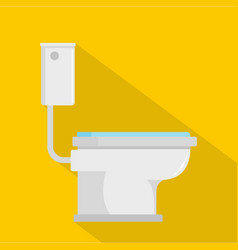 toilet icon flat style vector image