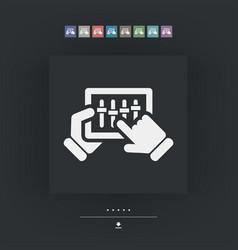 Touchscreen mixer icon vector