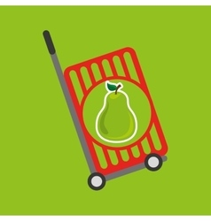 trolley shop juicy pear fruit vector image