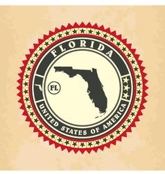 vintage label-sticker cards florida vector image