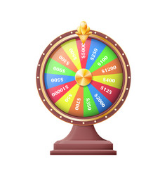 wheel of luck or fortune wheels automatic gambling vector image
