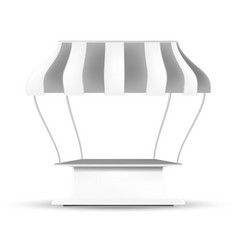 white gray pos poi outdoorindoor 3d stall or vector image