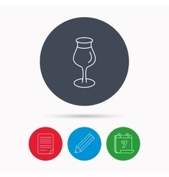 Wine glass icon Goblet sign vector image