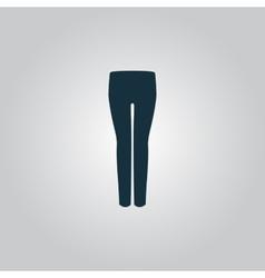 Women pants icon vector image