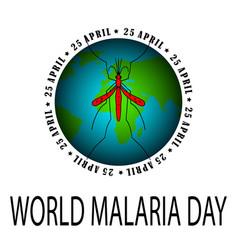 World malaria day card vector
