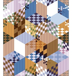 Abstract retro style seamless pattern vector image vector image