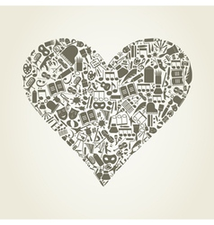Art heart vector image
