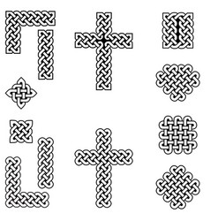 celtic style endless knot symbols vector image vector image