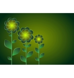 Decorative flowers on a dark background vector image
