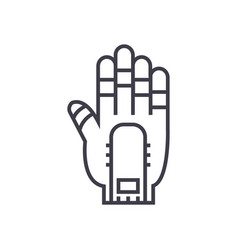 hand manipulator line icon sign vector image vector image