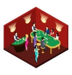 Poker Isometric vector image vector image