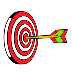 target icon icon cartoon vector image vector image