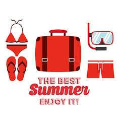 best summer design vector image