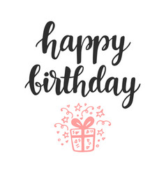 Happy birthday greeting card invitation poster vector