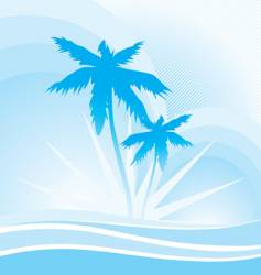 hawaii blue vector image