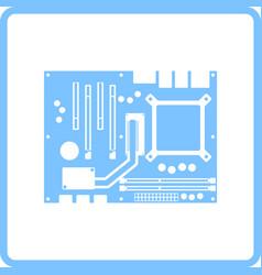 motherboard icon vector image vector image