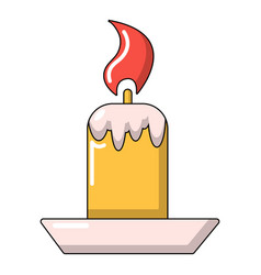 simple candle icon cartoon style vector image