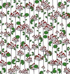 Texture with abstract floral branches vector image