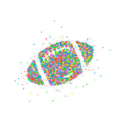 abstract rugby ball vector image vector image
