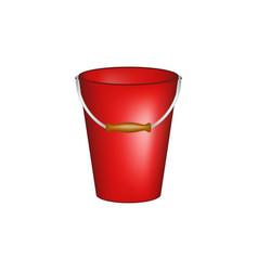 bucket in red design vector image vector image